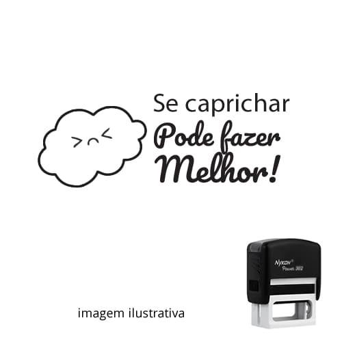 CARIMBO PEDAGÓGICO PARA PROFESSOR – SE CAPRICHAR, PODE FAZER MELHOR 1,4cm x 3,8cm