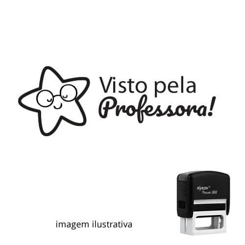 CARIMBO PEDAGÓGICO – VISTO PELA PROFESSORA 1,4cm x 3,8cm