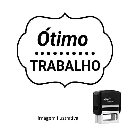 CARIMBO AUTOMÁTICO PARA PROFESSOR – VISTO PROFESSOR ÓTIMO TRABALHO!