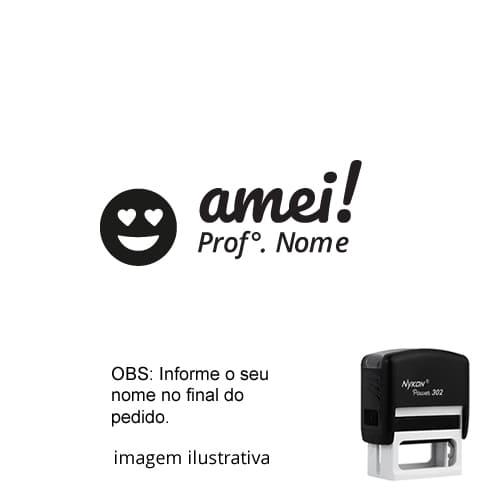 CARIMBO PARA PROFESSORES - VISTO AMEI COM EMOTION ! NOME PERSONALIZADO