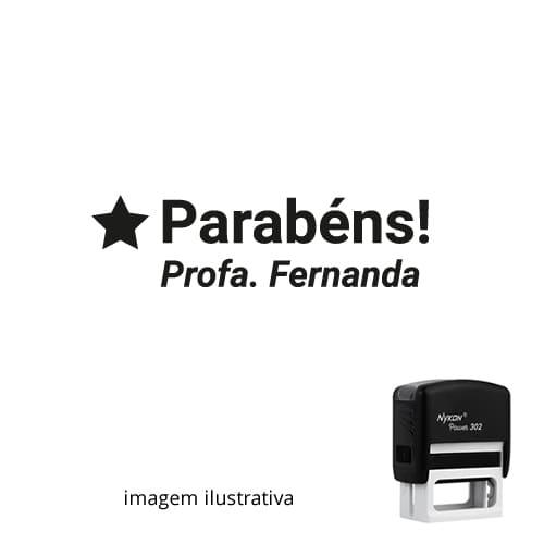 CARIMBO PARA PROFESSORES - VISTO PROFESSOR PARABÉNS - NOME PERSONALIZADO 2,5cm x 1,0cm