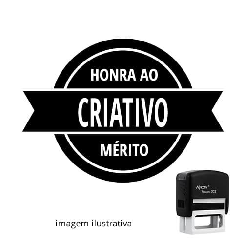 """CARIMBO AUTOMÁTICO PARA PROFESSOR – VISTO """"HONRA AO CRIATIVO!"""""""