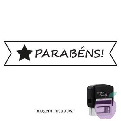 CARIMBO PARA PROFESSORES - VISTO PROFESSOR PARABÉNS