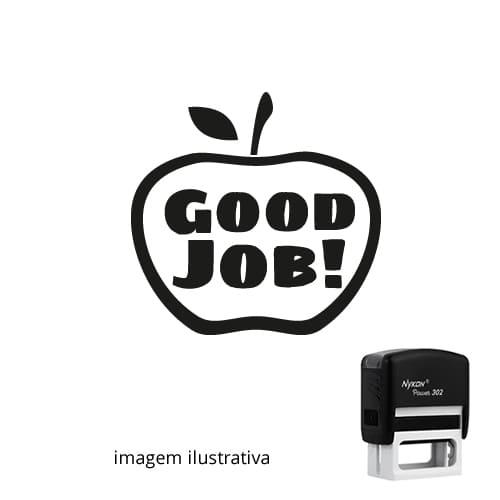 CARIMBO AUTOMÁTICO PARA PROFESSOR DE INGLÊS - GOOD JOB!  2,4cm x 2,4cm