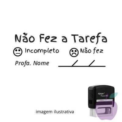 CARIMBO PARA PROFESSORES - VISTO COMPLETO, INCOMPLETO, NÃO FEZ + EMOTION  5,9cm x 2,3cm