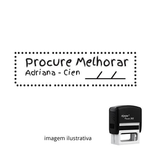 CARIMBO PARA PROFESSORES - VISTO PROCURE MELHORAR 1,8cm x 4,7cm